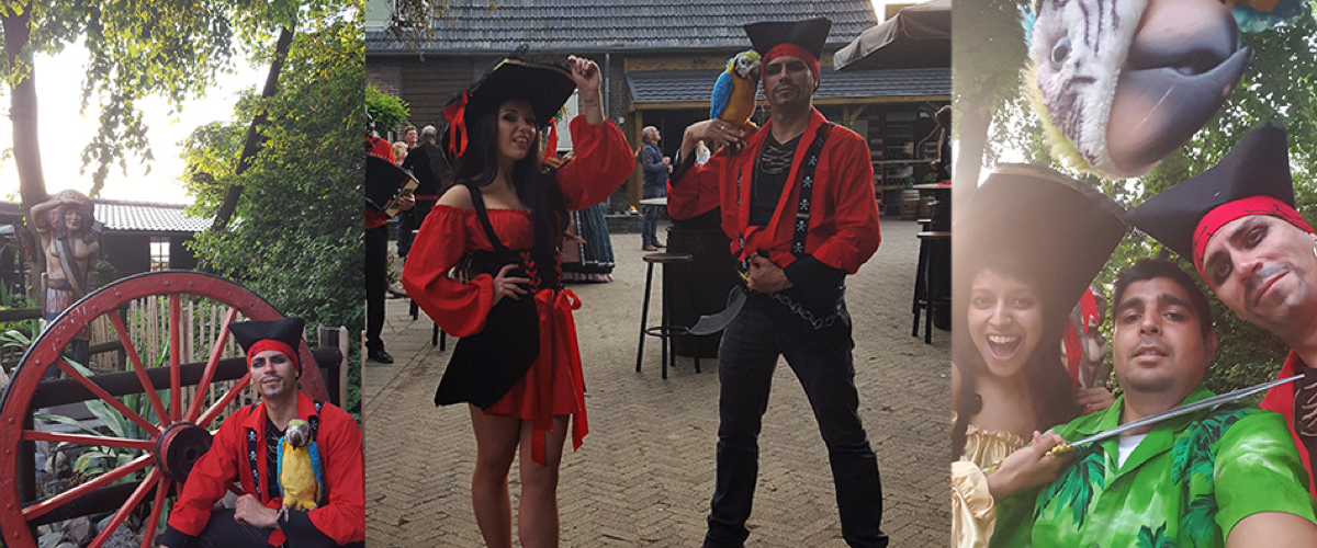 Piratenfeest barbecue